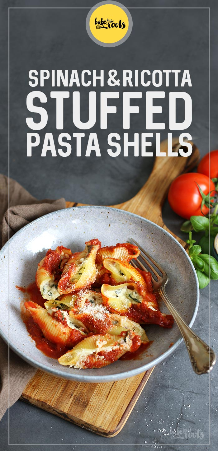 Spinach and Ricotta Stuffed Pasta Shells | Bake to the roots
