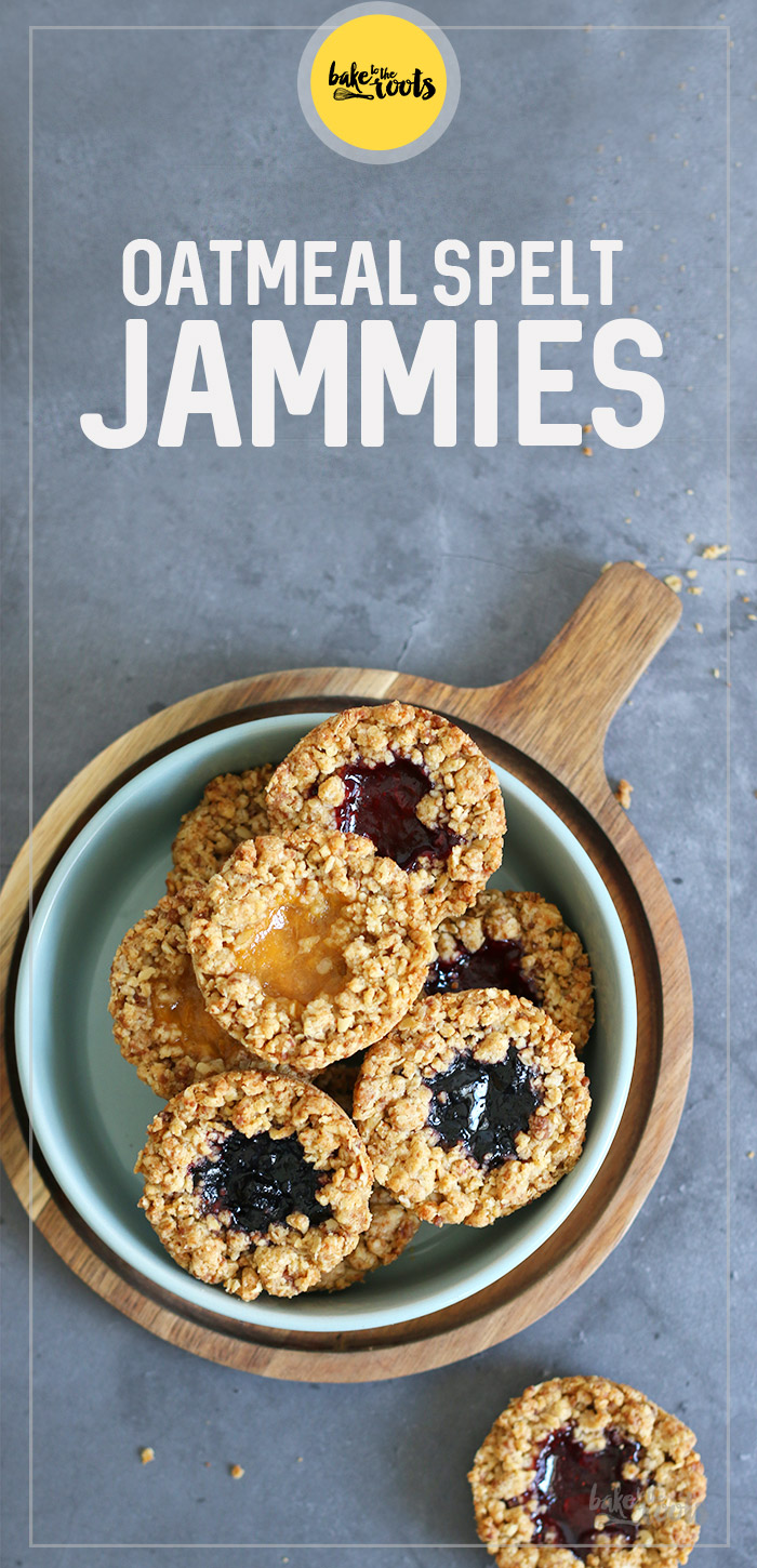Oatmeal Spelt Jammies | Bake to the roots
