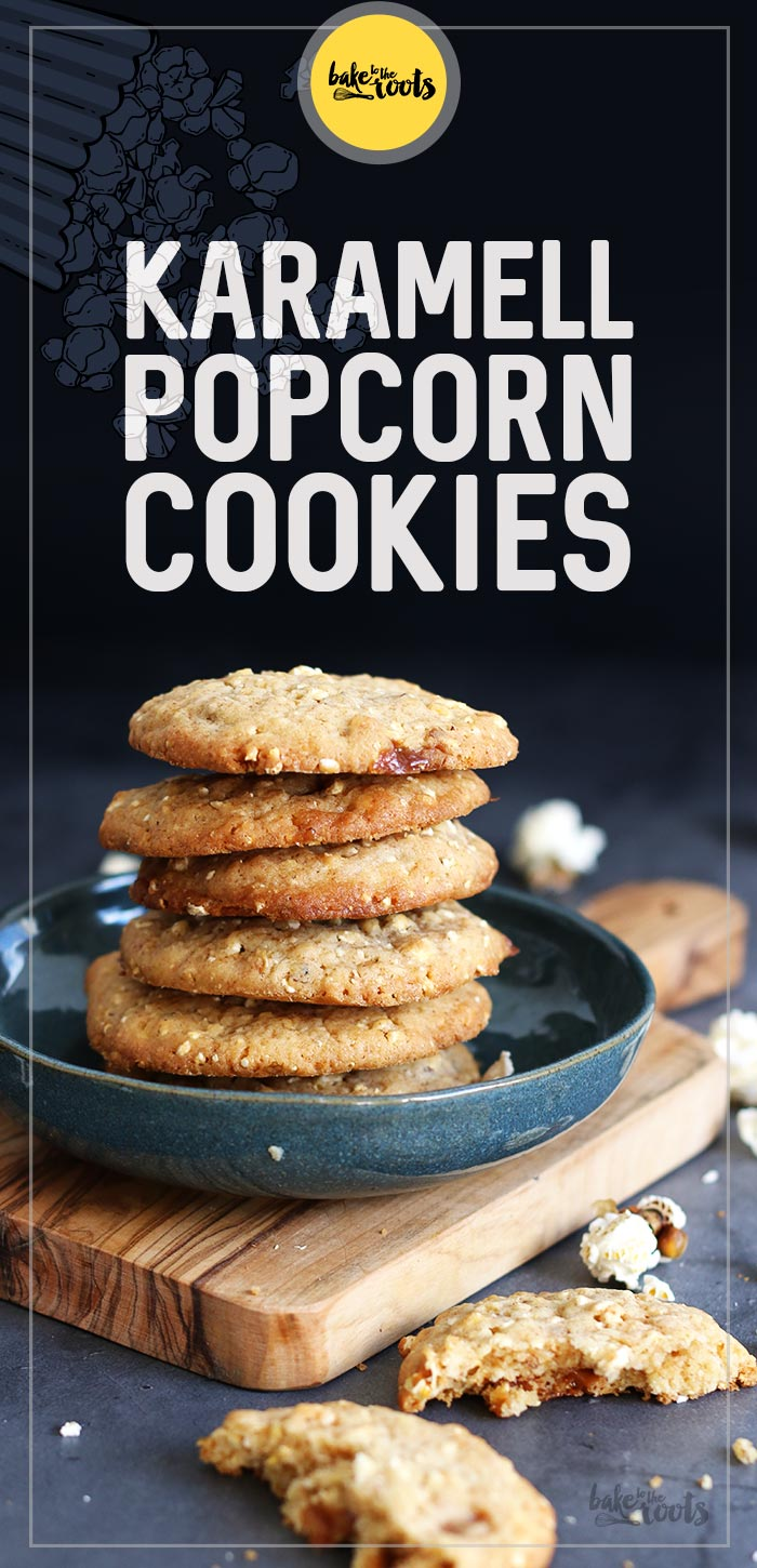 Karamell Popcorn Cookies | Bake to the roots