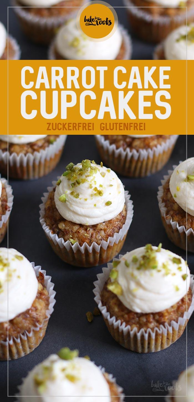 Mini Carrot Cake Cupcakes (zuckerfrei & glutenfrei) | Bake to the roots