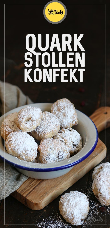 Quarkstollen Konfekt | Bake to the roots