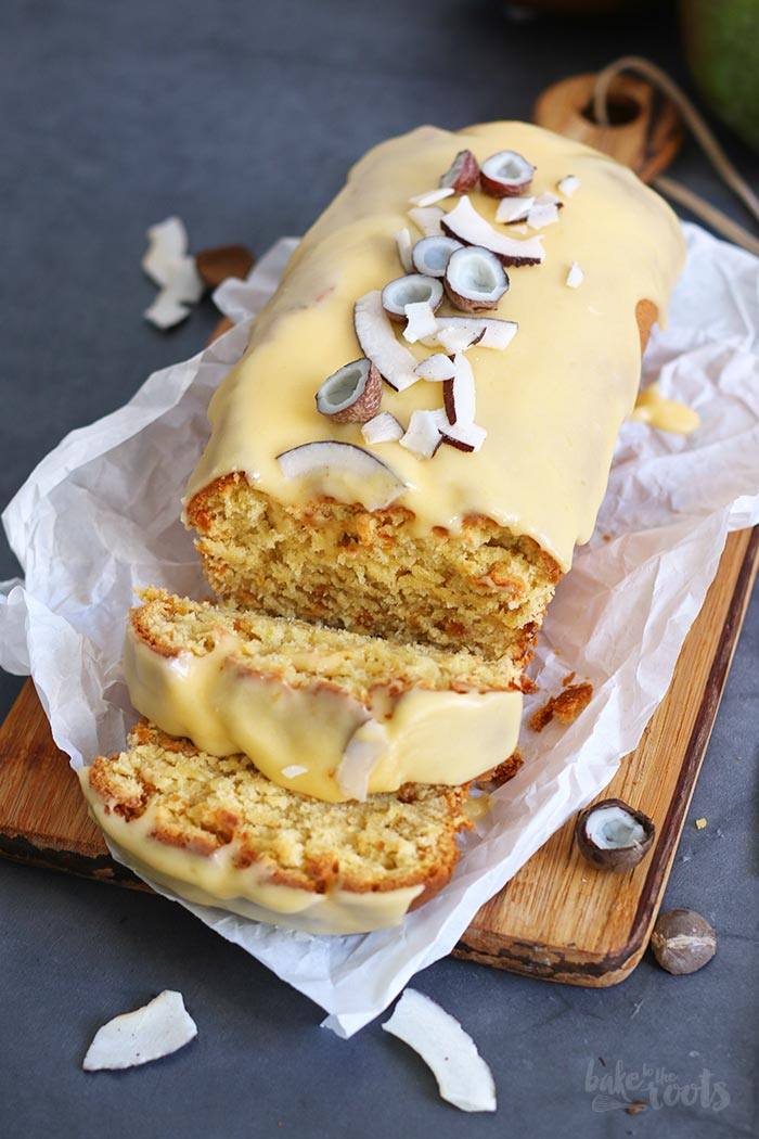 Mango Coconut Loaf Cake | Bake to the roots