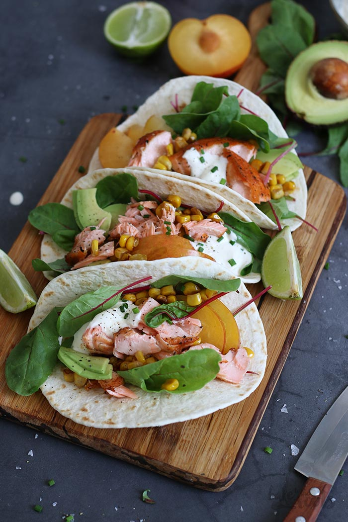 Salmon Tacos | Bake to the roots