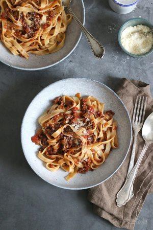 Vegan Mushroom & Lentil Bolognese