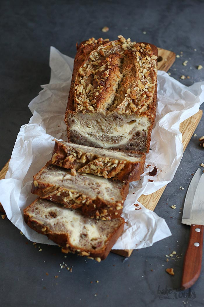 Cream Cheese Swirl Banana Bread | Bake to the roots