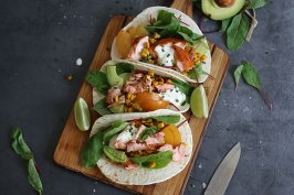 Salmon Tacos   Bake to the roots
