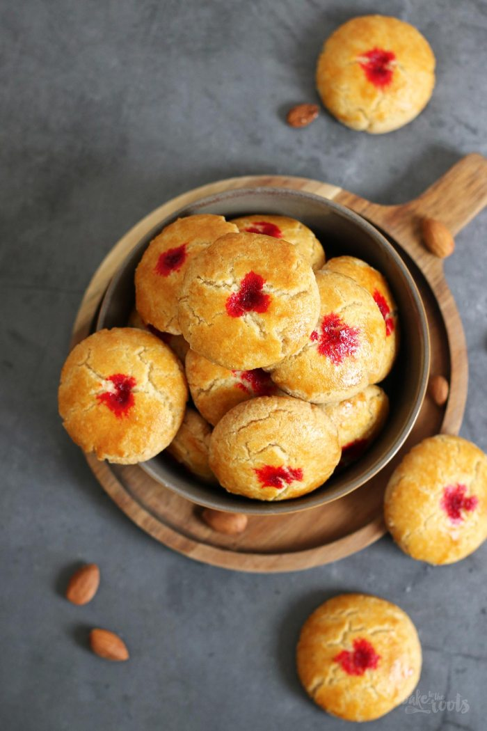 Chinese Almond Cookies | Bake to the roots