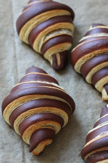 Chocolate Croissants | Bake to the roots