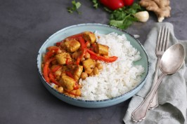 Coconut Chickpea and Chicken Curry | Bake to the roots