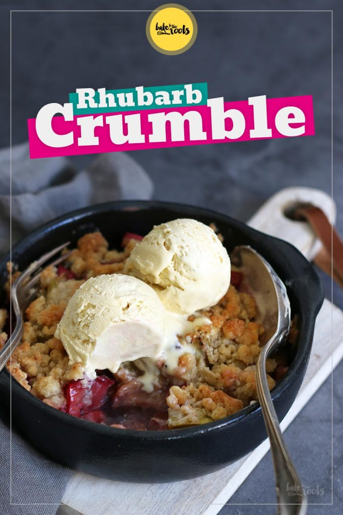 Rhubarb Crumble with Candied Ginger | Bake to the roots
