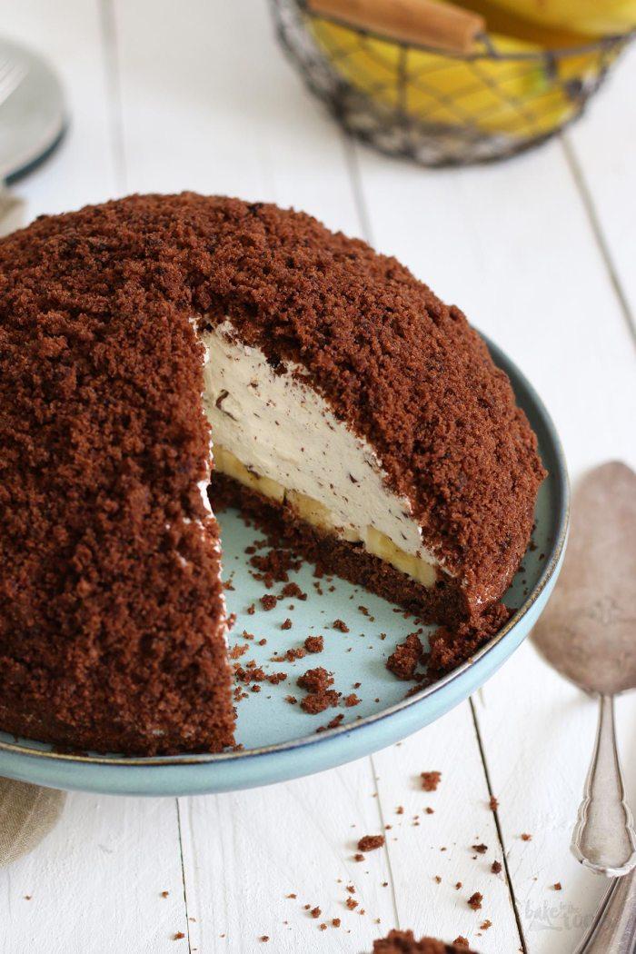 Maulwurfkuchen mit Bananen | Bake to the roots