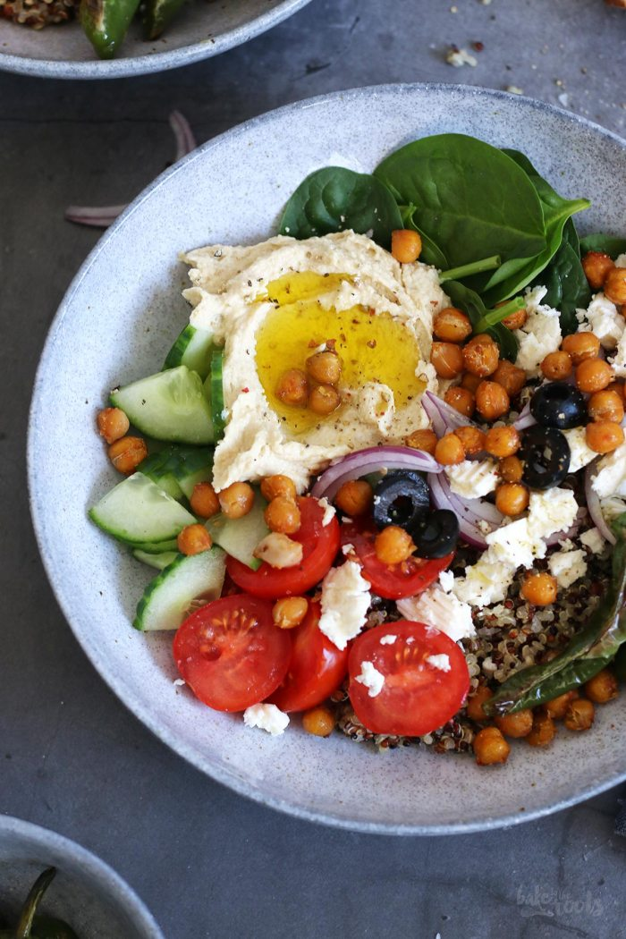 Mediterrane Hummus Bowl | Bake to the roots