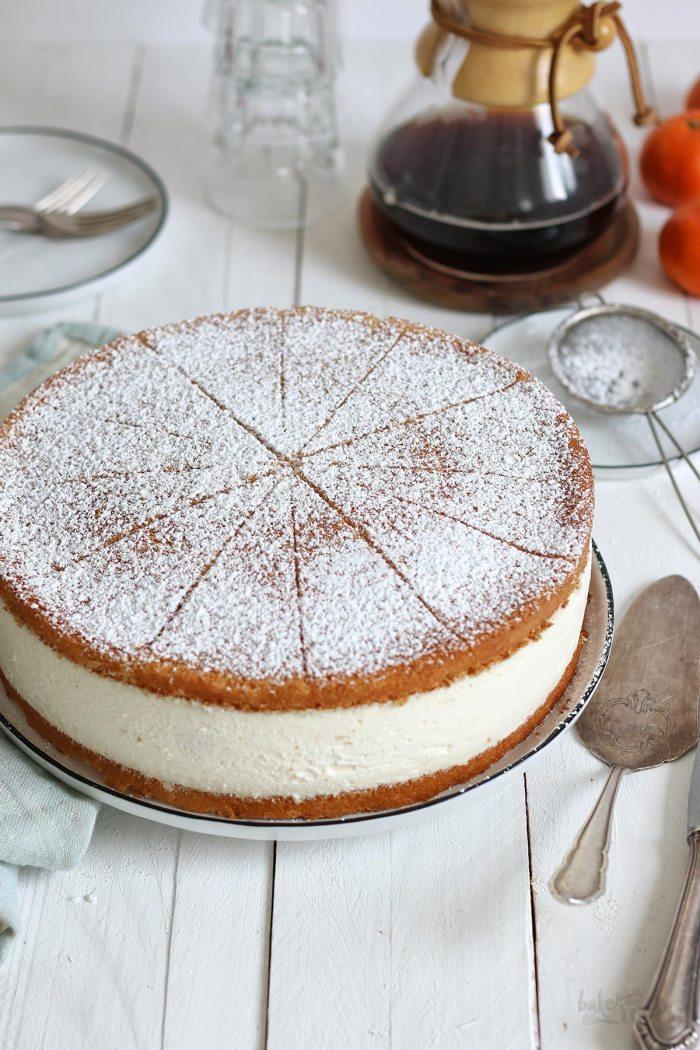 Käsesahnetorte mit Mandarinen | Bake to the roots