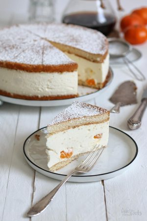 Classic German Quark Cream Cake with Mandarin Oranges