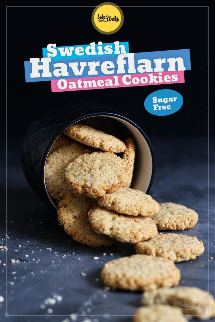 Swedish Havreflarn (Oatmeal Cookies) sugar-free | Bake to the roots