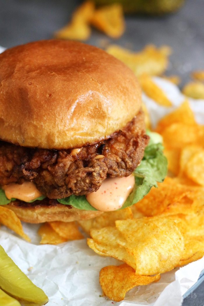 Southern Style Buttermilk Chicken Sandwiches | Bake to the roots
