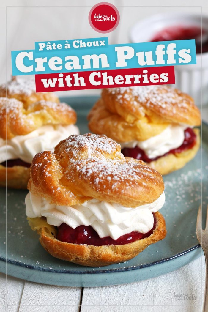 Cream Puffs with Cherries   Bake to the roots