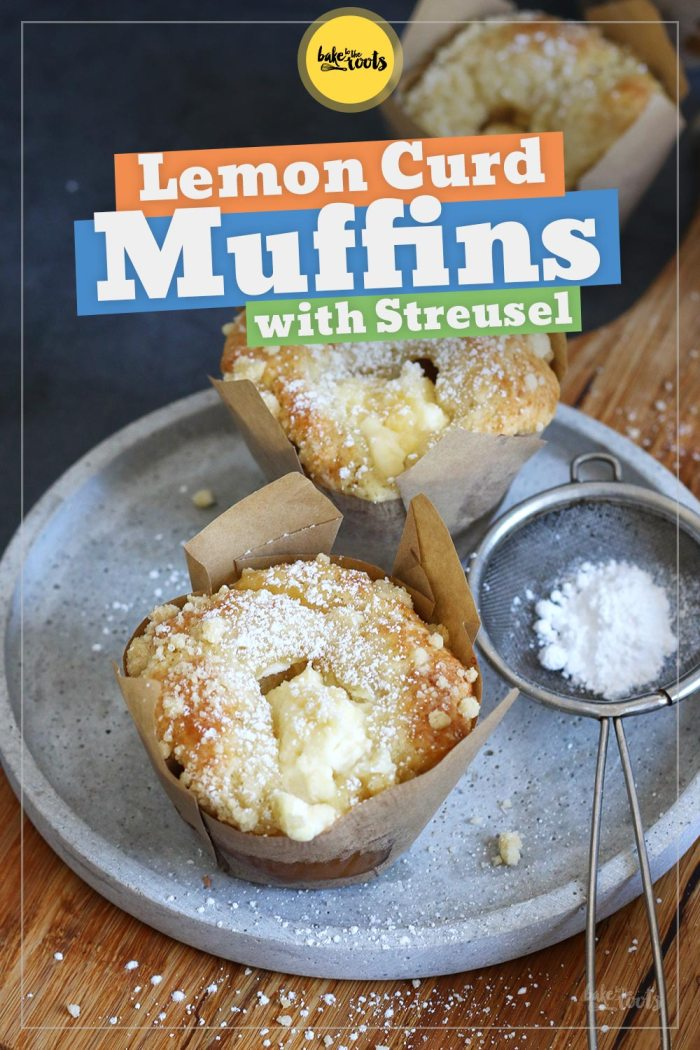 Lemon Curd Cheesecake Streusel Muffins | Bake to the roots