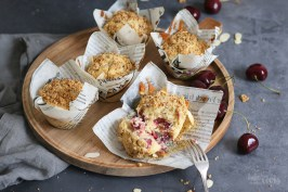 Cherry Streusel Muffins | Bake to the roots