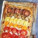Ombre Tomaten Tarte mit Gorzonzola & Mascarpone | Bake to the roots
