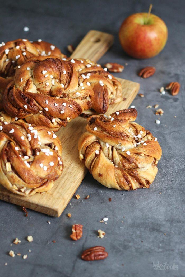 Vegan Swedish Apple Pecan Cinnamon Rolls (Kanelbullar) | Bake to the roots