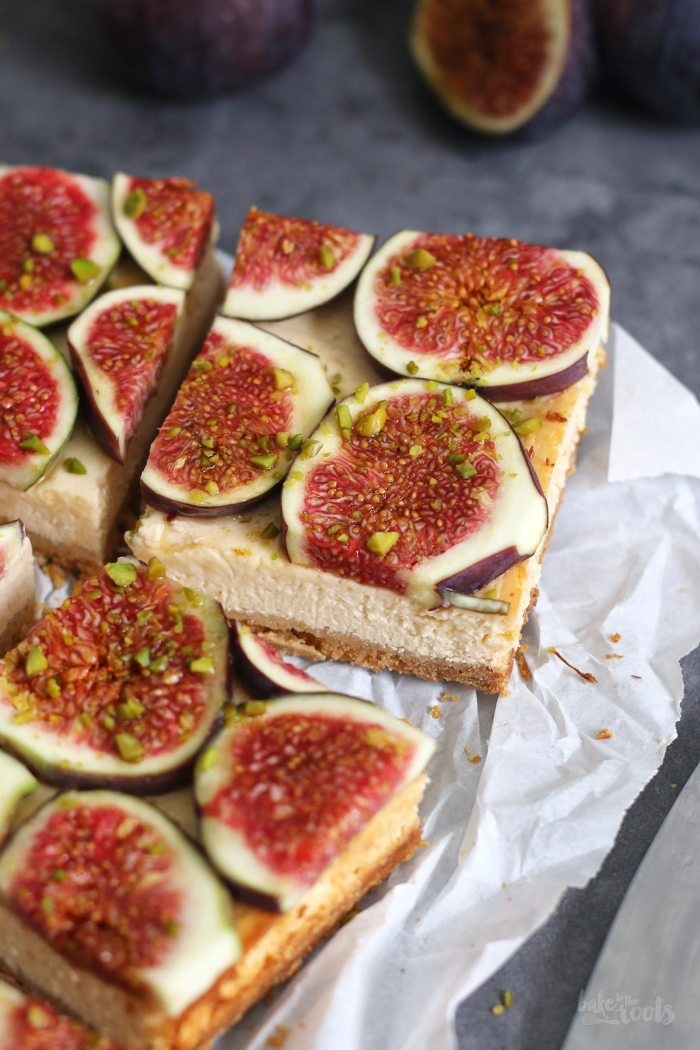 Honey Fig Cheesecake Bars | Bake to the roots