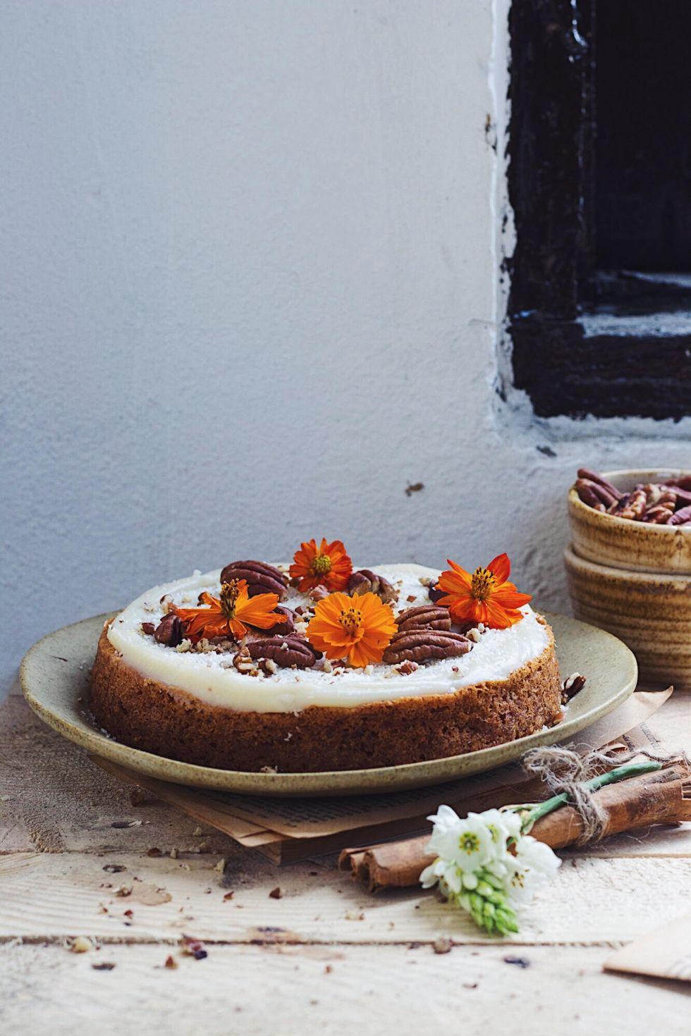 easy eggless carrot cake