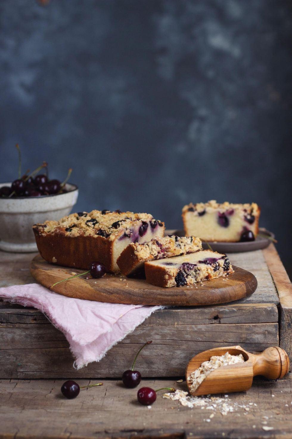CHERRY-VANILLA LOAF CAKE