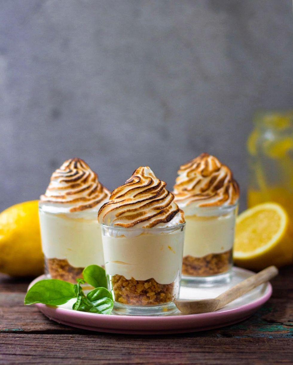 no bake lemon cheesecake shots