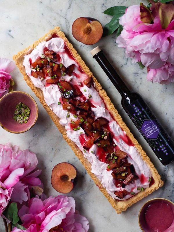 plum lavender tart