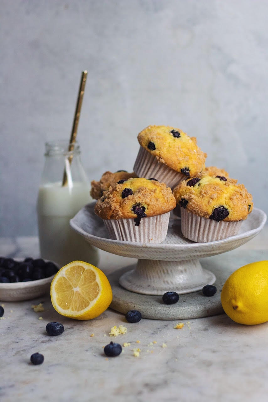 TEA INFUSED BLUEBERRY MUFFINS