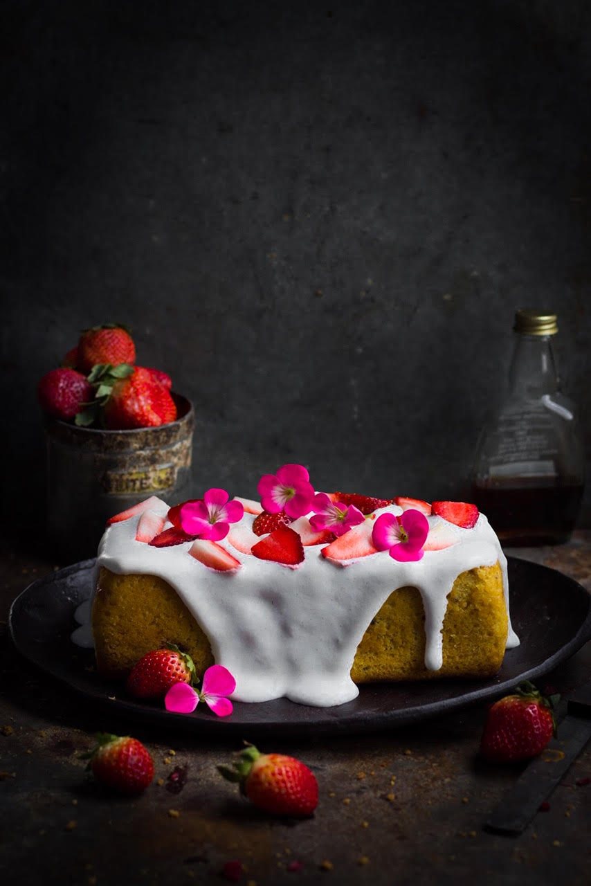 whole wheat strawberry cake