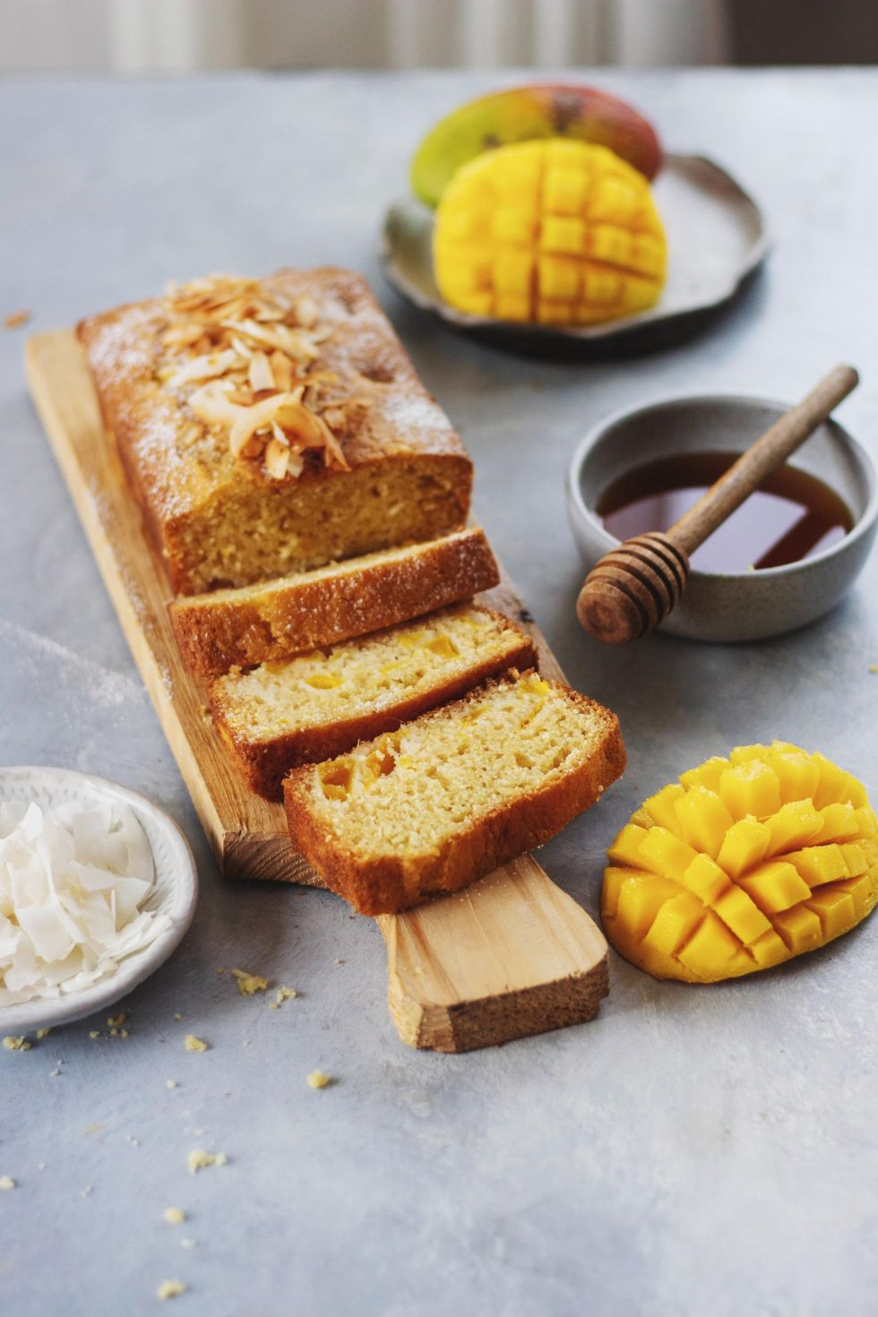 Mango Coconut Loaf Cake 2