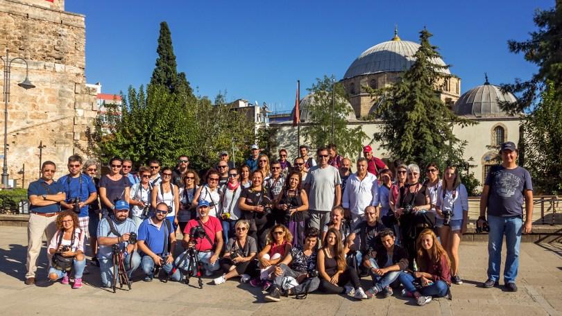 Antalya Dünya Çapında Fotoğraf Yürüyüşü 2016 katılımcıları toplu fotoğrafı