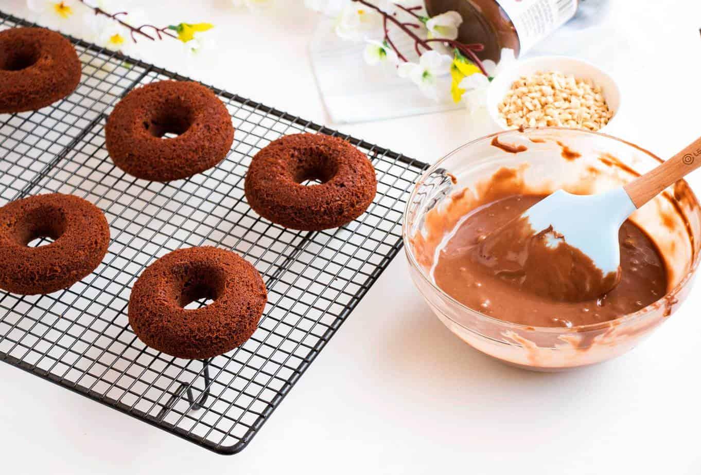 Easy chocolate cake donut recipe