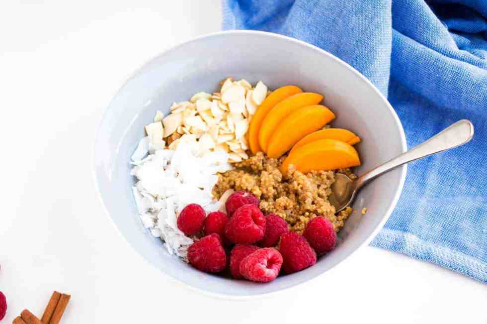Cinnamon and Peach Quinoa Porridge