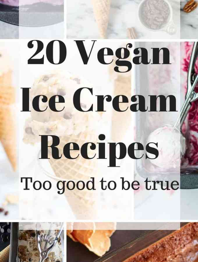 20 Creamy Vegan Ice Cream Recipes that are simply too good to be true. Everything from scrumptious chocolate ice cream to sweet potato ice cream. So good, you won't even know it's vegan.