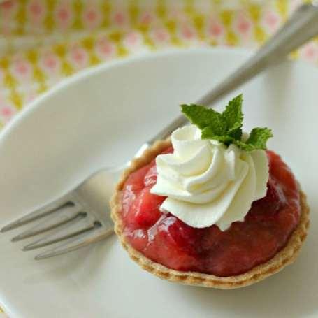 Strawberry Rhubarb Tarts by BakingAMoment.com