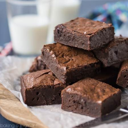 Simply Perfect Brownies from Scratch: The fudgiest, gooiest brownies, with the deepest, darkest, most intense chocolate flavor EVER! From scratch, pantry staples, just one bowl, no mixer needed.