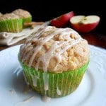 Apple Peanut Butter Muffins with Cinnamon Glaze by Meriem of Culinary Couture