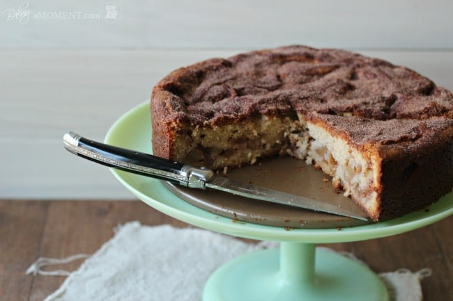 Brown Butter Cream Cheese Jewish Apple Cake by Baking a Moment
