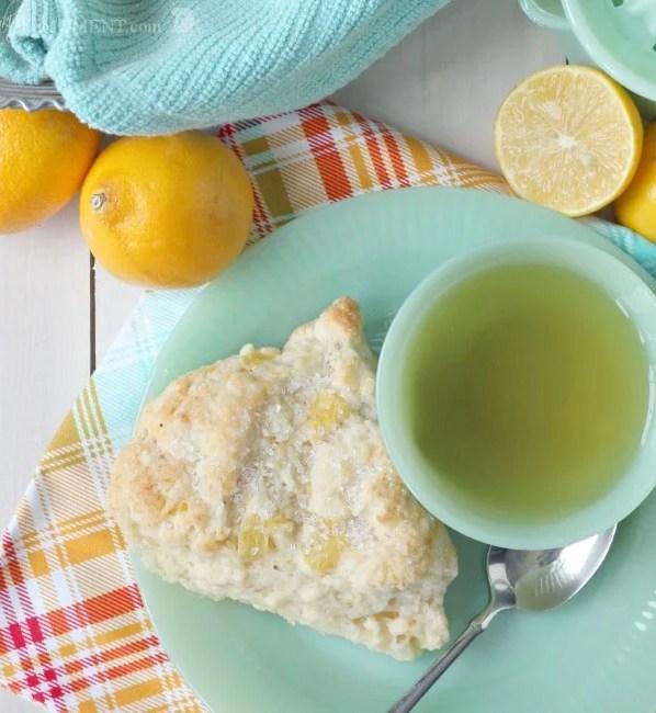 Meyer Lemon Mascarpone Scones | Baking a Moment