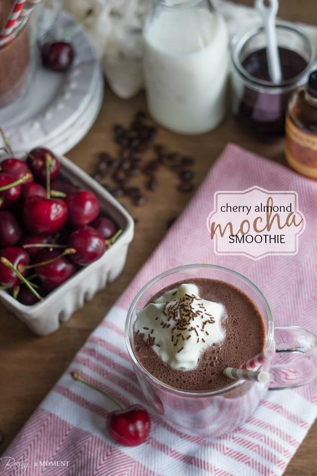 Cherry Almond Mocha Smoothie | Baking a Moment