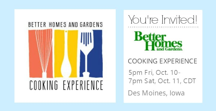 The Better Homes and Gardens Cooking Experience