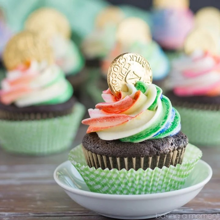 Pot of Gold Cupcakes Baking A Moment