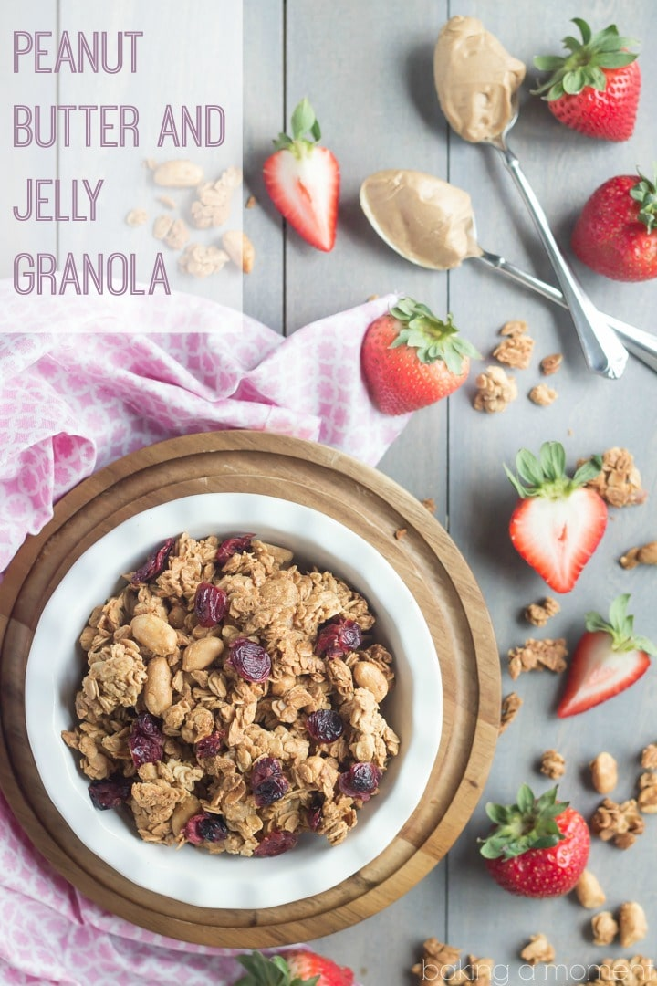 Peanut Butter and Jelly Granola- tasted almost like a peanut butter cookie, but the fruit just added something really special ;) #brunchweek
