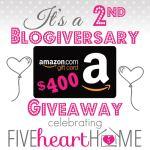 $400 Amazon Gift Card Giveaway