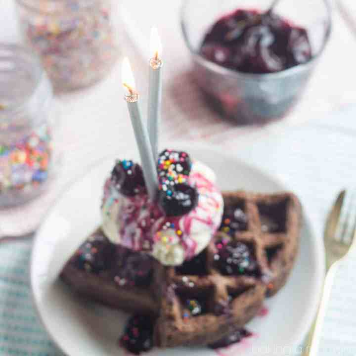 Black Forest Waffle Sundaes and a Giveaway!