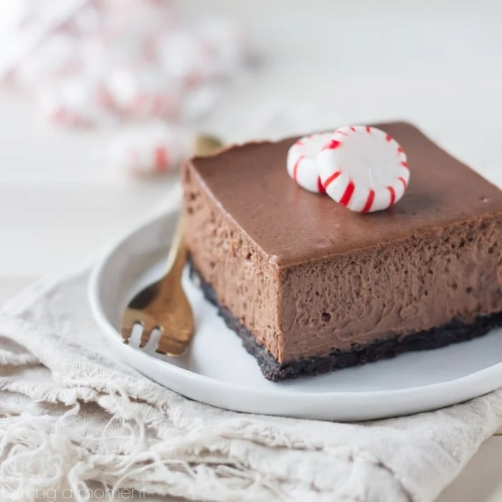 Chocolate Peppermint Cheesecake Bars Baking A Moment