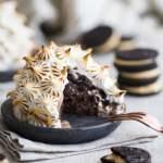 Double Chocolate Peanut Butter Oreo Baked Alaska